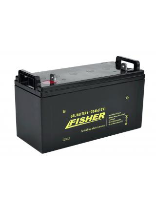 Электромотор Fisher 55 + аккумулятор Gel 120Ah
