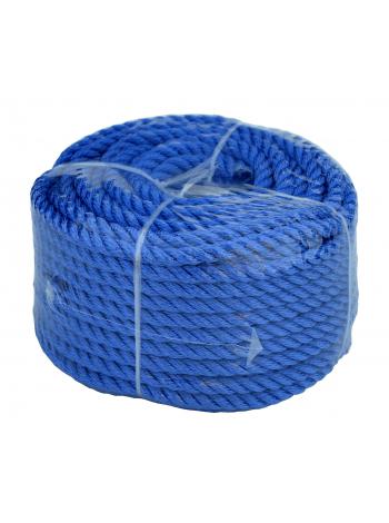Веревка 30м 6мм, синяя, полиэстер, универсальная