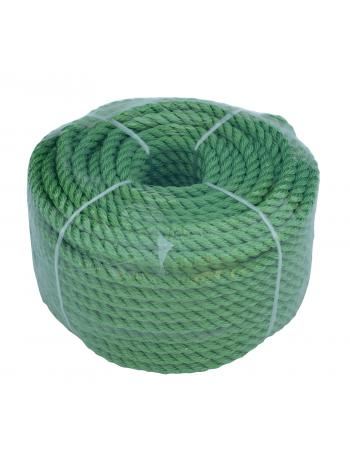 Веревка 30м 6мм, зеленая, полиэстер, универсальная